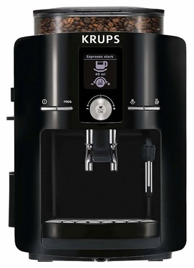 Different Types of Espresso Machines KRUPS EA8250001 Espresseria Full Automatic Espresso Machine with Built in Conical Burr Grinder - Coffee Dino