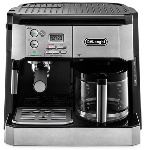 Front View of DeLonghi BCO430, an excellent combination coffee machine