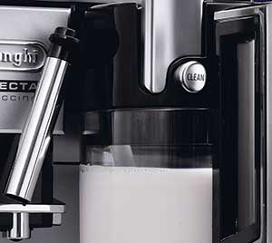 An image of DeLonghi Perfecta ESAM5500's milk carafe handle button