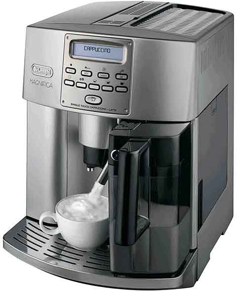 Delonghi ESAM3500 Review Front Side - Coffee Dino