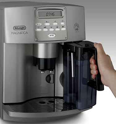 Delonghi ESAM3500 Review Milk Jug - Coffee Dino