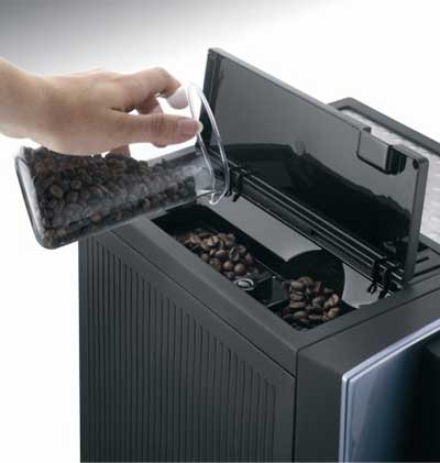 An image of Delonghi Perfecta ESAM5500's bean hopper