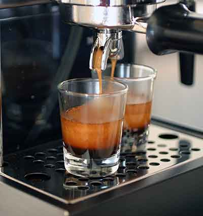 An image of Gaggia 14101 Classic's coffee spigot, which can fit a maximum cup size of 3.5 inches