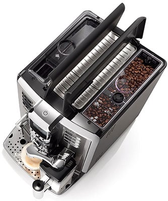 Gaggia Accademia Espresso Machine Reviews Upper View - Coffee Dino