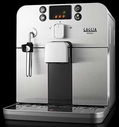 Front view image of Gaggia Brera espresso machine