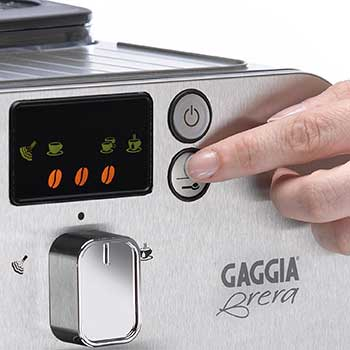 An image of the brew control panel of Gaggia Brera