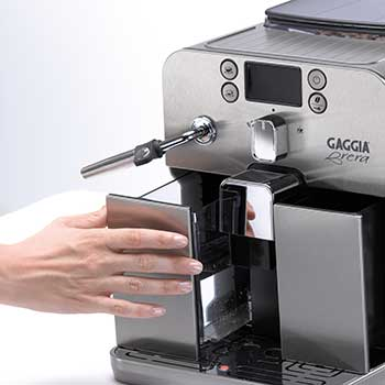 An image of Gaggia Brera's front loading water tank
