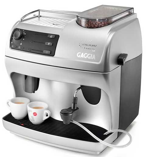 Gaggia Syncrony Logic Rapid Steam Review Front Side View - Coffee Dino