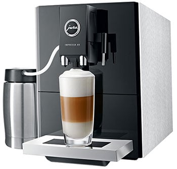 An image of Jura Impressa A9's auto-frother system
