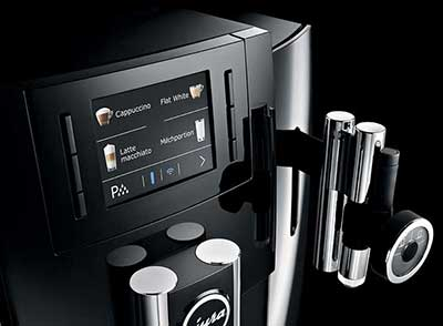 An image of Jura E8's one-touch buttons