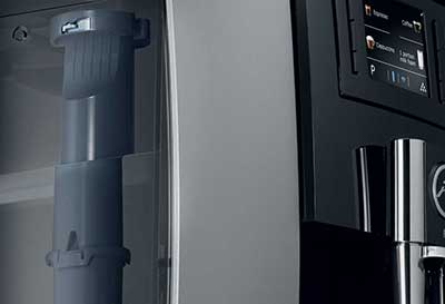 An image of Jura E8 Coffee Machine's 67-ounce water tank