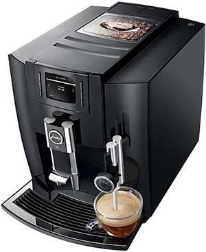 An image of Jura E8 espresso machine's auto-frothing system