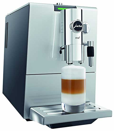 Jura ENA 9 One Touch Espresso Machine Front Side View - Coffee Dino