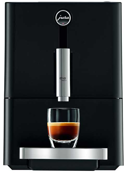 An image of Jura ENA Micro 1, an espresso machine that offers once-touch convenience