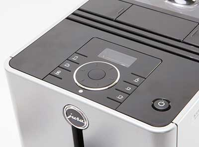 An image of the digital control panel of Jura ENA Micro 90 Automatic Coffee Machine