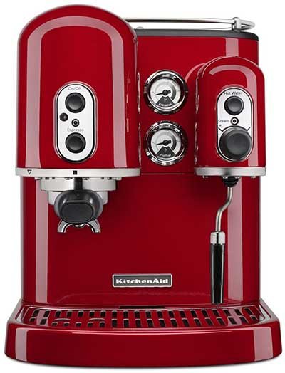 An image of Kitchenaid KES2102ER Pro Line, a reliable semi-automatic espresso machine