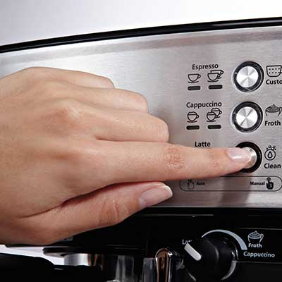 An image of one touch control panel of Mr Coffee BVMC ECMP1000