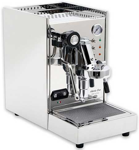 An image of Alexia Evo, a capable semi-automatic espresso machine
