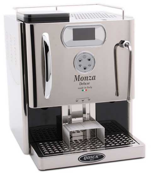 An image of Quick Mill Monza Deluxe, a capable super automatic espresso machine