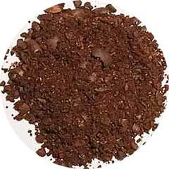 An image of the inconsistent coffee grounds of a blade grinder