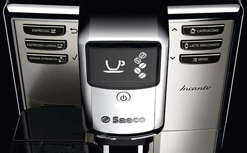 An image of the control buttons of Saeco Incanto One Touch