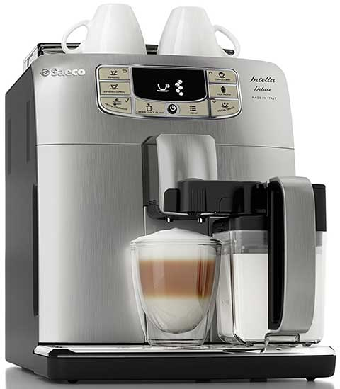 An image of Saeco Philips Intelia with a cup of coffee