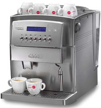 An Image of Gaggia Titanium Espresso Machine for Best Super Automatic Espresso Machine for Home Use