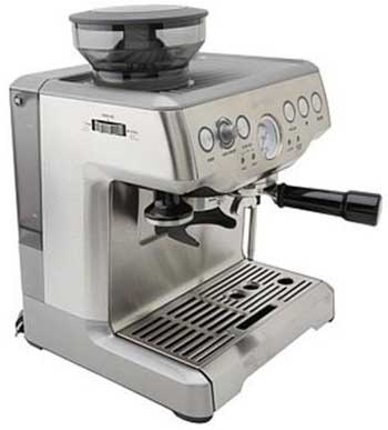 Side view image of the Breville BES870XL espresso machine