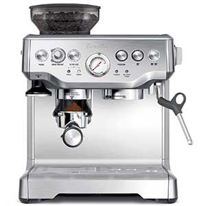 An image of the Breville BES870XL semi-automatic espresso machine