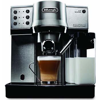 An image of DeLonghi EC 860, a stainless steel espresso machine
