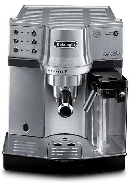 Front view image of DeLonghi EC 860 espresso coffee machine