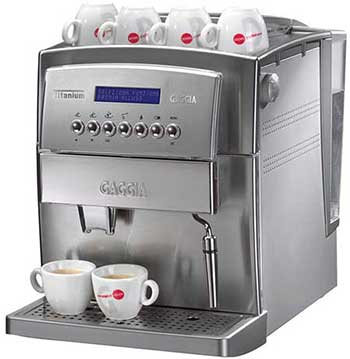 An image of Gaggia Titanium Super Automatic's 6-cup capacity cup warming tray