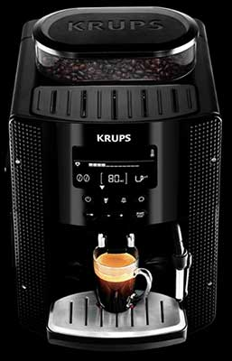 An image of Krups EA81's passively heated cup warming tray