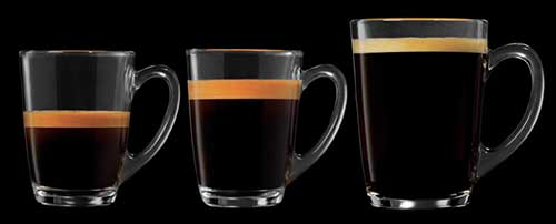 An image of 3 cup of espresso