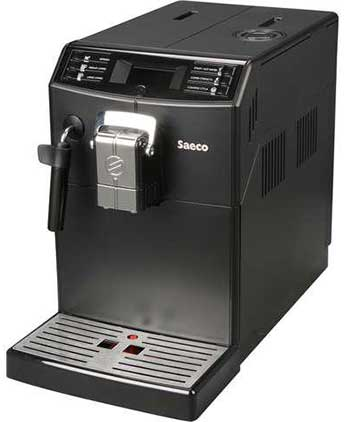 An Image of Saeco Minuto HD8775/48 Left View of Philips Saeco Minuto Focus Espresso Coffee Maker