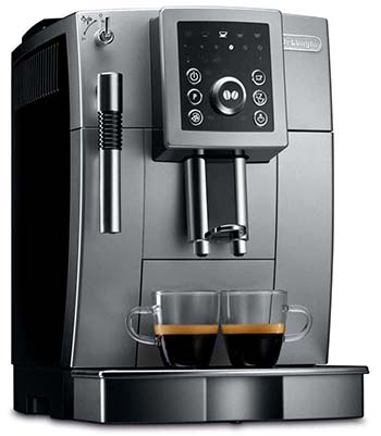 An image of DeLonghi ECAM 23210SB, one of the best super automatic espresso machines under $1000