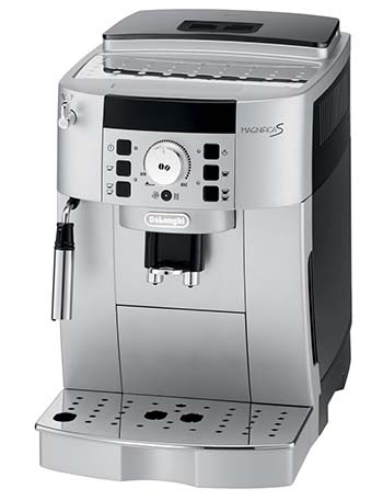 An image of DeLonghi ECAM22110SB, our top pick for the best super automatic espresso machine under $1000