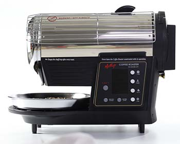 Side view image of the Hottop KN-8828B-2K+ coffee roaster