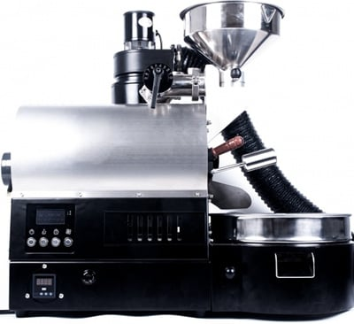 A side view image of the ARC 800G Roaster showing the controls
