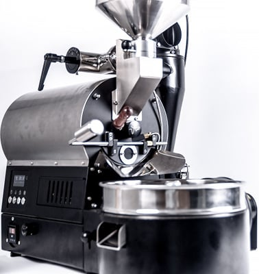 A tilted view of image the Arc 800g Roaster Black Variant