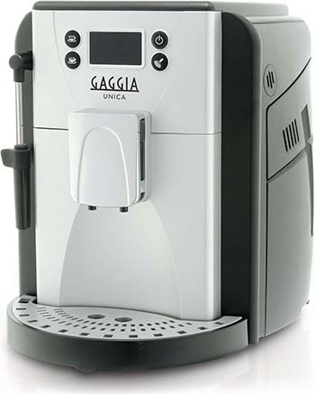 Side view image of the Gaggia Unica coffee machine