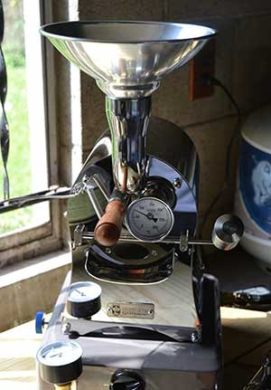 Front view image of Huky 500 Coffee Roaster