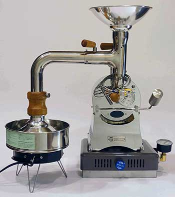An image of Huky 500, a unique coffee roaster created by Kuanho Li