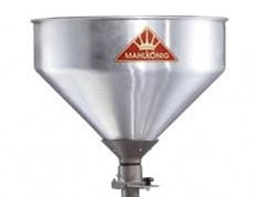 An image of the 66-pound bean hopper of Mahlkonig DK15 LH Industrial Coffee Grinder