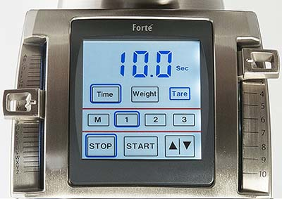 A close up image of Baratza Forte AP's macro and micro grind settings