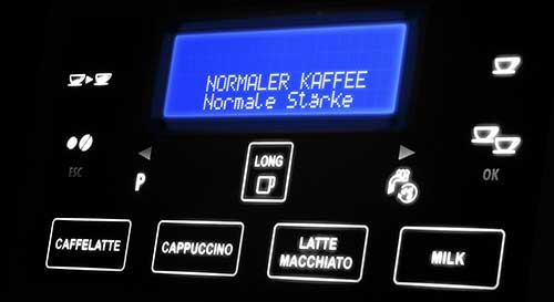 An image of Delonghi Gran Dama's one-touch control panel
