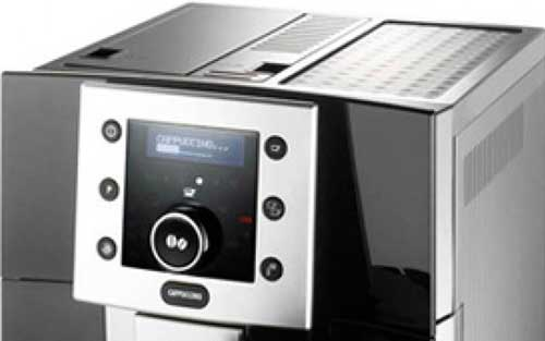 An image of Delonghi Perfecta ESAM 5500B's control unit and knob