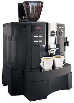 An image of Jura Impressa XS 90, an espresso machine which offers an impressive raw capacity