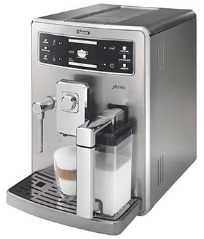 An image of Saeco Xelsis, our second choice for the best super automatic espresso machine