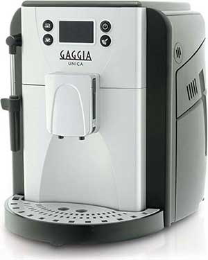 An image Gaggia Unica espresso machine, out top pick in our best super automatic espresso machine under $500 review